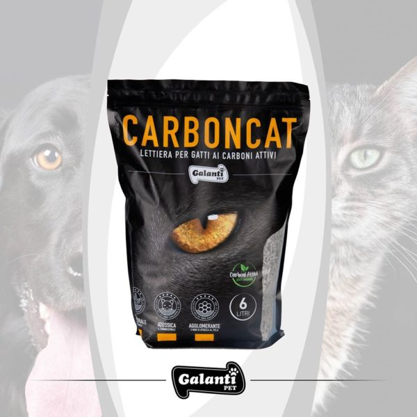 CARBONCAT - 6lt lettiera per gatti carboni attivi