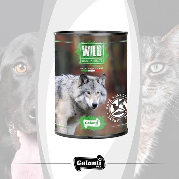 Wild Dog 400gr Agnello salmone e carote