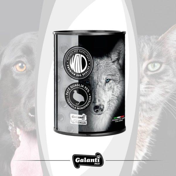 """Wild Dog Quaglia (95%) 400gr """"premium"""" monoproteico"""